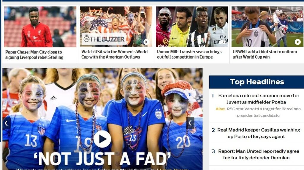 Capital United players make Fox Sports front page headlines at World Cup!
